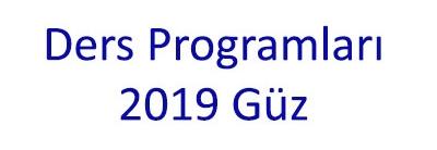 Fizik Bölümü Ders Programları